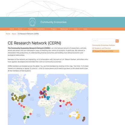 CE Research Network (CERN) | Community Economies