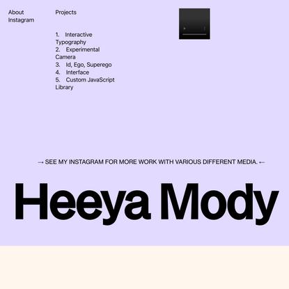 Heeya's Code 2 Portfolio