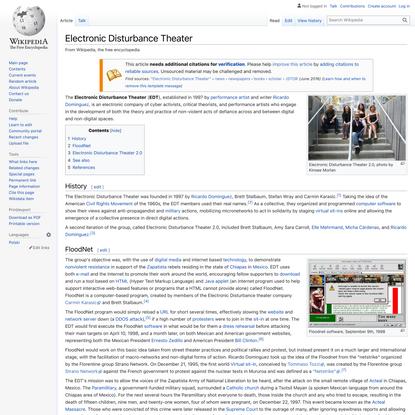Electronic Disturbance Theater - Wikipedia