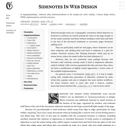 Sidenotes In Web Design