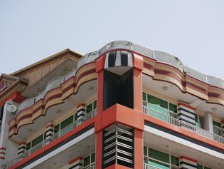 An apartment building in Khair Khana, Kabul, Afghanistan
