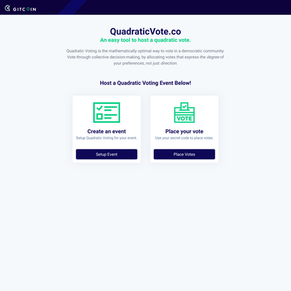 QuadraticVote.co - EZ QV Tool