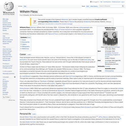 Wilhelm Fliess - Wikipedia