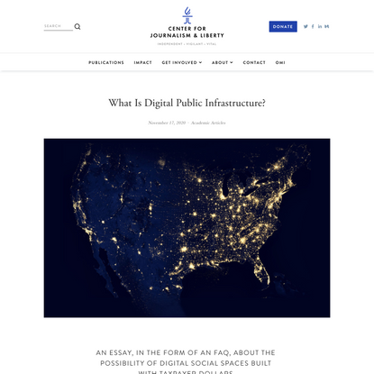 What Is Digital Public Infrastructure? — Center for Journalism & Liberty
