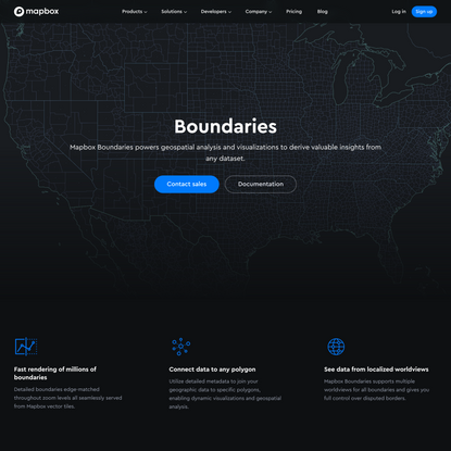 Mapbox Boundaries: administrative, legislative, & postal