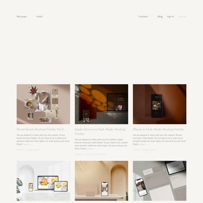 Mockups & Font Freebies — Minimalist & Elegant Design Goods — Harmonais Visual