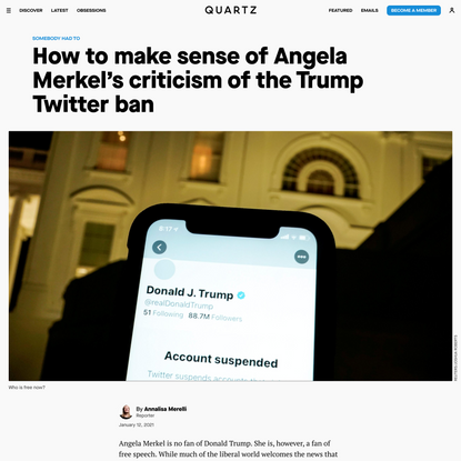 Why world leaders are worried about Trump's Twitter ban — Quartz