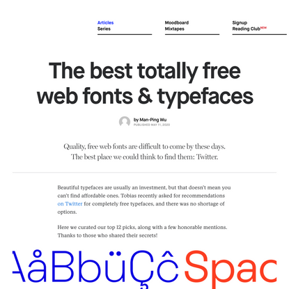 The best totally free web fonts & typefaces - DESK Magazine