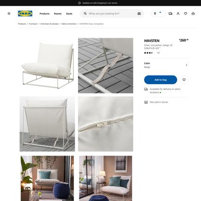 HAVSTEN Chair, in/outdoor, beige - IKEA