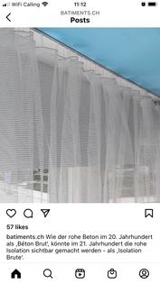Gerüstschutznetz mit Kabelbinder als Vorhang