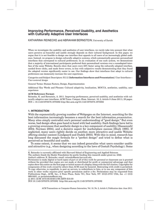 Improving performance, perceived usability, and aesthetics with culturally adaptive user interfaces(Reinecke & Bernsteine, 2011).pdf