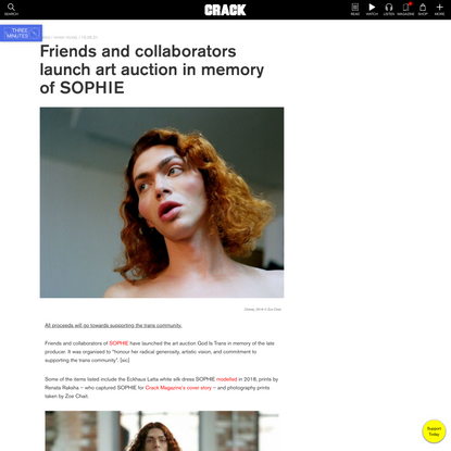 Friends and collaborators launch art auction in memory of SOPHIE