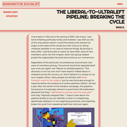 The Liberal-to-Ultraleft Pipeline: Breaking the Cycle