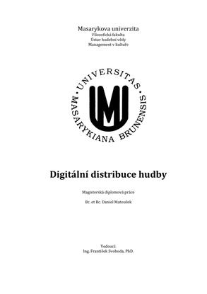 Digitální distribuce hudby — Daniel Matoušek