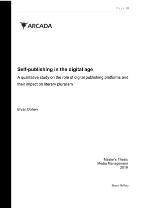 Self-publishing in the digital age — Bryan Dollery