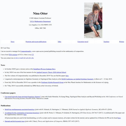 Homepage of Nina Otter