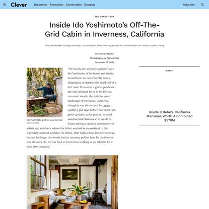 Inside Ido Yoshimoto's Off-The-Grid Cabin in Inverness, California