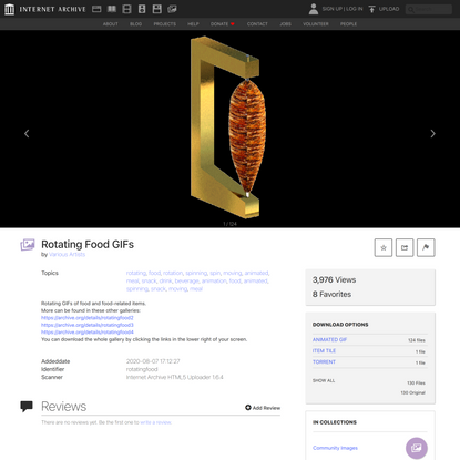 Rotating Food GIFs : Various Artists : Free Download, Borrow, and Streaming : Internet Archive