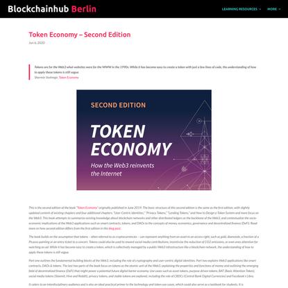 Token Economy - Second Edition - BlockchainHub