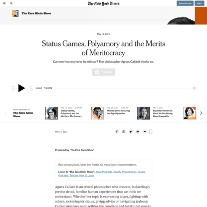 Opinion   Status Games, Polyamory and the Merits of Meritocracy