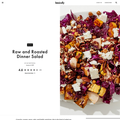 Raw and Roasted Dinner Salad