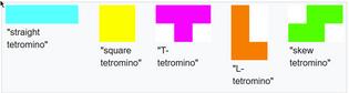 Tetrominos - The shapes of Tetris
