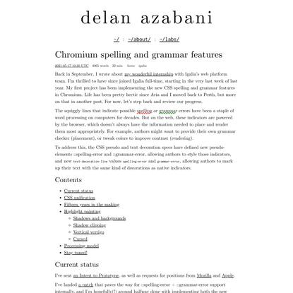 Chromium spelling and grammar features | delan azabani