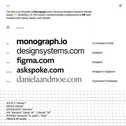 Moe Amaya — Designer