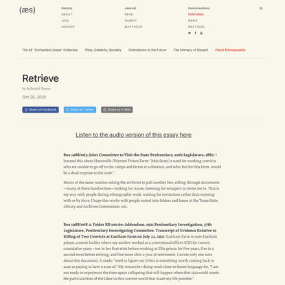Retrieve | American Ethnological Society