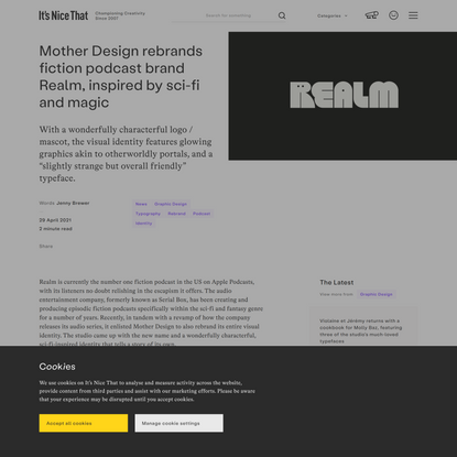 Mother Design rebrands fiction podcast brand Realm, inspired by sci-fi and magic