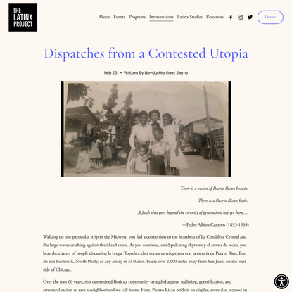 Dispatches from a Contested Utopia — The Latinx Project at NYU