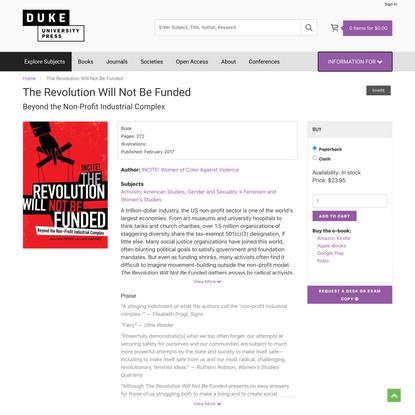 Duke University Press - The Revolution Will Not Be Funded