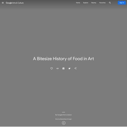 A Bitesize History of Food in Art - Google Arts & Culture