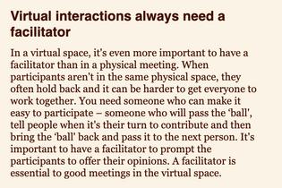 From 'Virtual Facilitation' by Henrik Horn Andersen