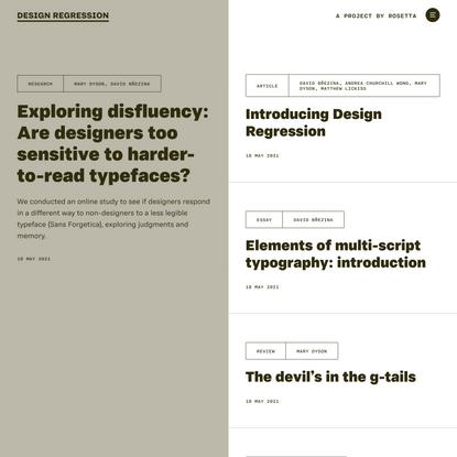 Design Regression