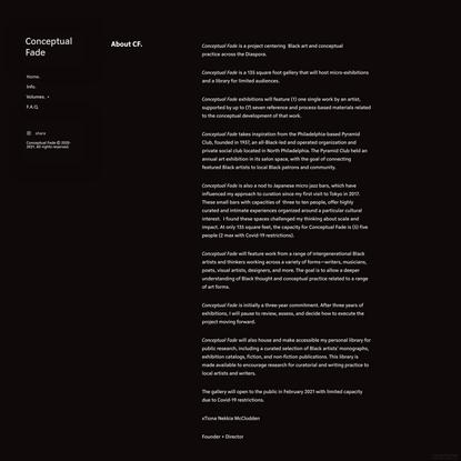 Info. - Conceptual Fade