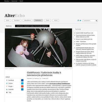 Gin&Platonic: Vydáváním hudby k internetovým přátelstvím - AlterEcho