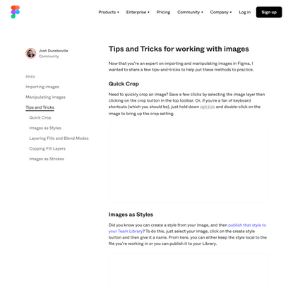 Working with images in Figma