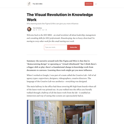 The Visual Revolution in Knowledge Work