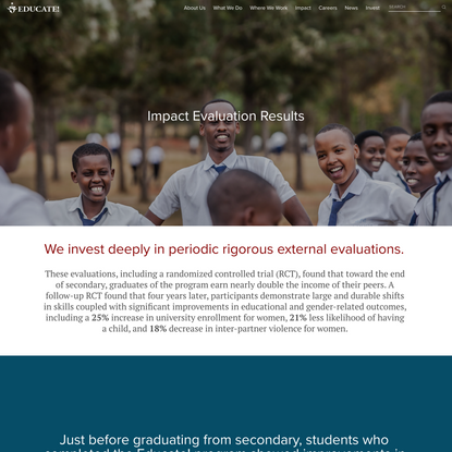Results — Educate! | Preparing youth in Africa with the skills to succeed in today's economy.
