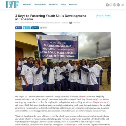 3 Keys to Fostering Youth Skills Development in Tanzania