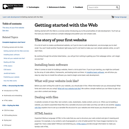 Getting started with the Web - Learn web development   MDN