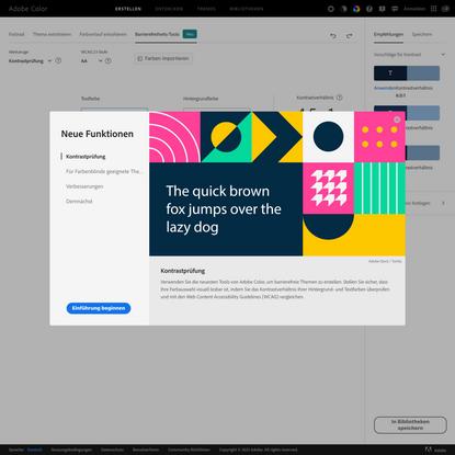 Farbkontrastanalyse | Adobe Color