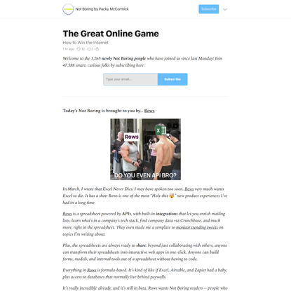 The Great Online Game