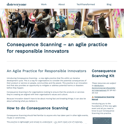 Consequence Scanning – an agile practice for responsible innovators – doteveryone