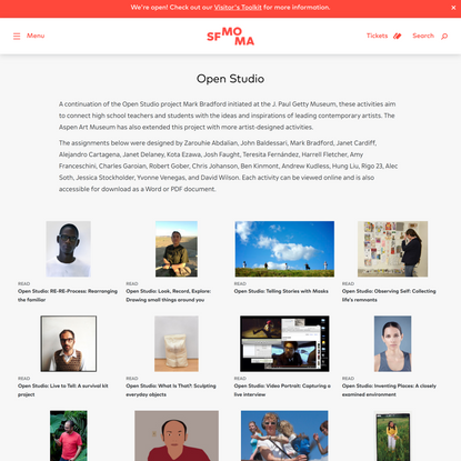 Open Studio Archives · SFMOMA