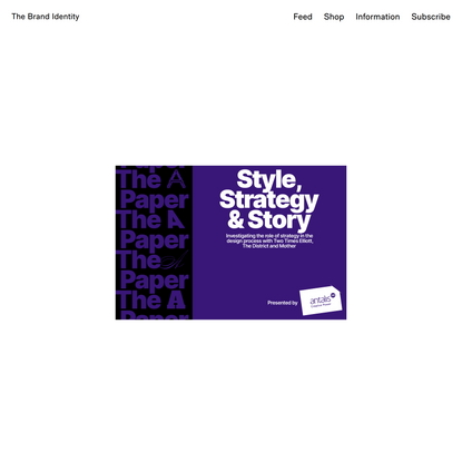 The Brand Identity — Empowering + supporting the graphic design industry