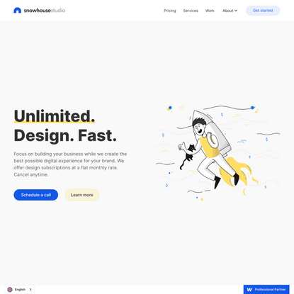 Snowhouse.Studio | Unlimited Design Fast | Official Webflow Partner