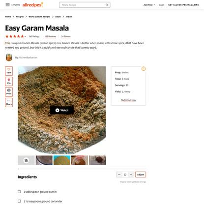 Easy Garam Masala