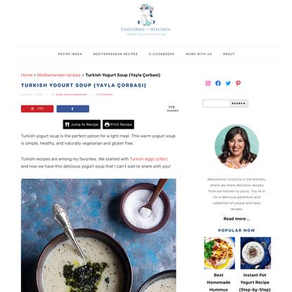Turkish Yogurt Soup (Yayla Çorbasi) • Unicorns in the Kitchen
